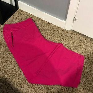 Hot pink cropped pant lane Bryant